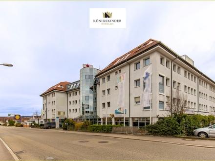 Verkehrsgünstig gelegenes Hotelgebäude mit Einzelhandel, Gastronomie und Büros als DIE ideale Kapitalanlage in Winnenden…