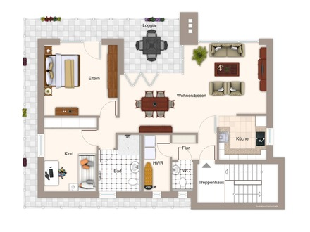 Exclusive Penthouse Wohnung