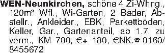 WEN-Neunkirchen, schöne 4 Zi-W...