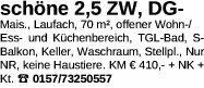 Wohnung 70m² in 63846 Laufach