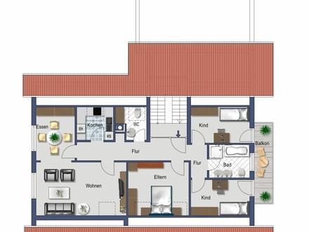 5,5 ZKB m. Balkon DG-Wohnung 96 qm