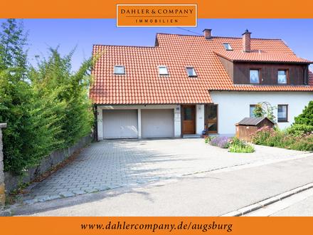 Gepflegtes Zweifamilienhaus mit großem Garten in Thierhaupten (Achtung: eingetragenes Wohnrecht)
