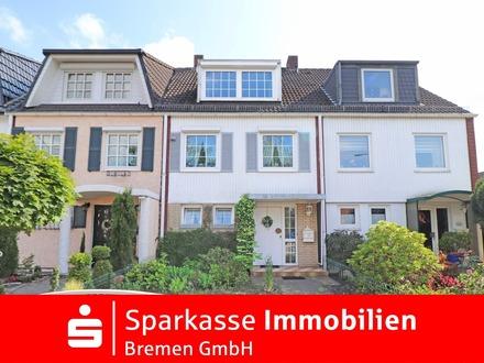 Gepflegtes Reihenhaus mit großer Garage in beliebter Wohnlage von Bremen-Osterholz