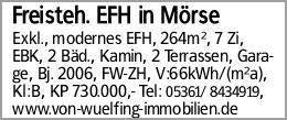 Freisteh. EFH in Mörse