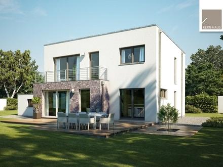 Moderne Bauhaus-Architektur mitten im Grünen! (inklusive Grundstück)