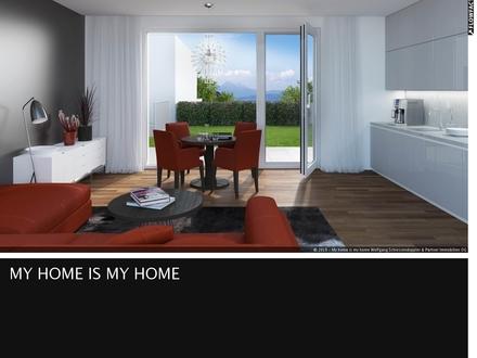 THE VIEW²-Wohnen über Salzburg Single-Appartment mit Terrasse & Garten – 1C Top 3