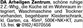 2-Zimmer Mietwohnung in Arheilgen (64291)