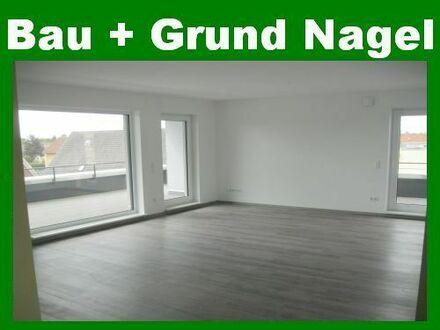 Provisionsfrei! Neubauwohnung im Penthousestil mit Aufzug, Carport, Dachterrasse etc. in zentraler Lage