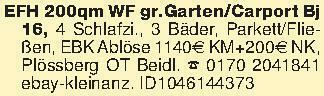 EFH 200qm WF gr.Garten/Carport...