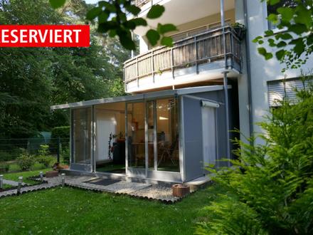 Erdgeschosswohnung mit Garten, Terrasse & Kfz-Stellplatz über 2 Ebenen