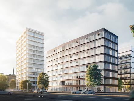 LUXUS PUR - PENTHOUSE-WOHNUNG mit exklusivem Ausblick in Hamburgs Altstadt und mit großer windgeschützter Loggia