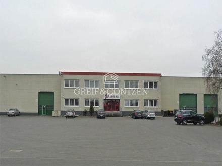 Multifunktionale Halle mit vorgelagertem Bürogebäude