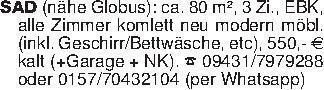 SAD (nähe Globus): ca. 80 m²,...