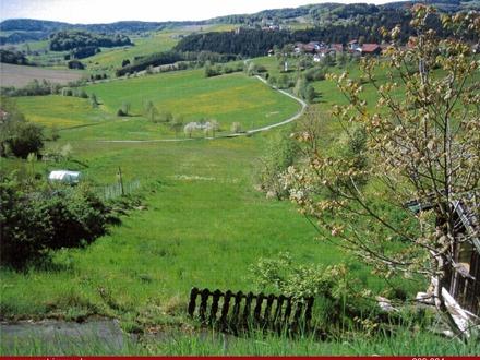 Grundstück mit Traumfernblick in zentraler Ortslage am Hang