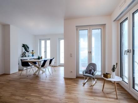 Moderne 2-Zimmer-Wohnung mit eigenem Gartenanteil