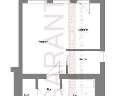 1 1/2 Zimmer-Wohnung im Stadtsüden