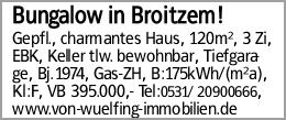 Bungalow in Broitzem!