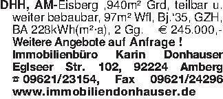 DHH, AM-Eisberg ,940m² Grd, te...