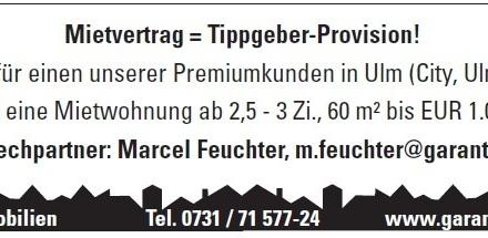 Mietvertrag = Tippgeber-Provision!