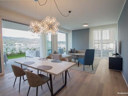 WÖRTHERSEE: Gartenwohnung mit optimaler Raumaufteilung am beliebten Südufer!
