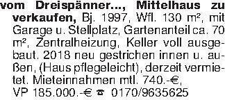 vom Dreispänner..., Mittelhaus...
