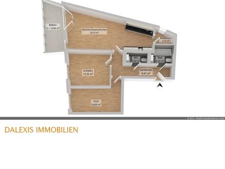 Exklusive 3-Zimmer Wohnung mit großem Balkon -Erstbezug im Frühjahr 2020-