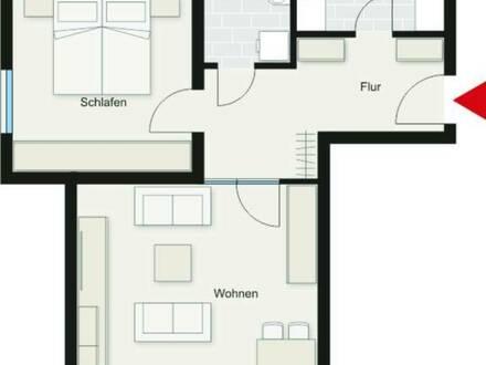 Schöne 2-Zimmer-Wohnung (ab 60 Jahre, mit Wohnberichtigungsschein für 2 Personen)