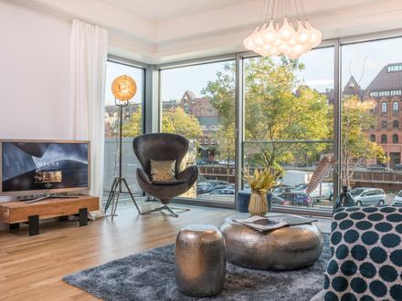 Single Apartment mit Blick auf die Speicherstadt