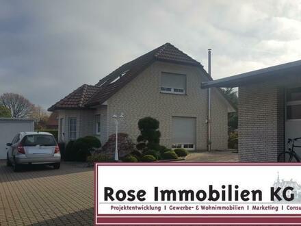 ROSE IMMOBILIEN KG: Kauf oder Miete! Wohnhaus mit Halle und Büro!