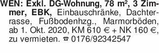 WEN: Exkl. DG-Wohnung, 78 m²...