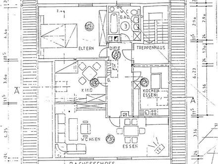 3-Zimmer-Dachgeschosswohnung in Arnbruck
