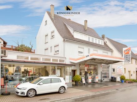 Stark frequentierte Tankstelle und 2 großzügige Wohnungen in Wohn- und Geschäftshaus in Horb