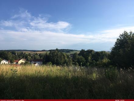 Großes idyllisches Grundstück mit Aussicht: Südhang am Ortsrand sofort verfügbar!