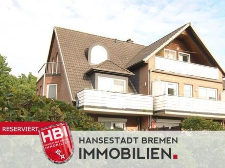 Weyhe / Helle Maisonettewohnung mit zwei Balkonen in ruhiger Lage