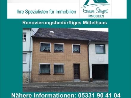 *** Für Handwerker - Renovierungsbedürftiges Mittelhaus in Schöppenstedt