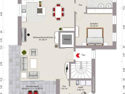 Neubau: Zentrumsnahe, attraktive Penthousewohnung