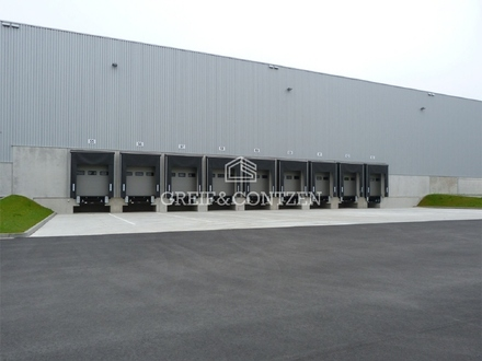 NEUBAU-Logistihallen mit Büro an der A7