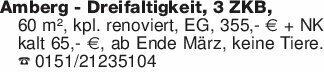 Amberg - Dreifaltigkeit, 3 ZKB...