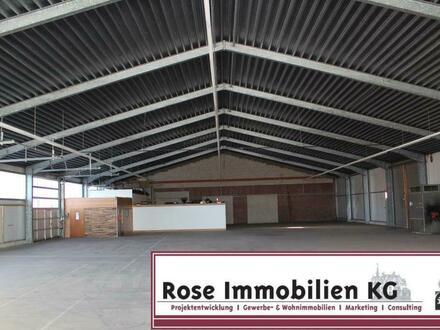 ROSE IMMOBILIEN KG: stützenfreie Kalthalle mit zwei großen Sektionaltoren!