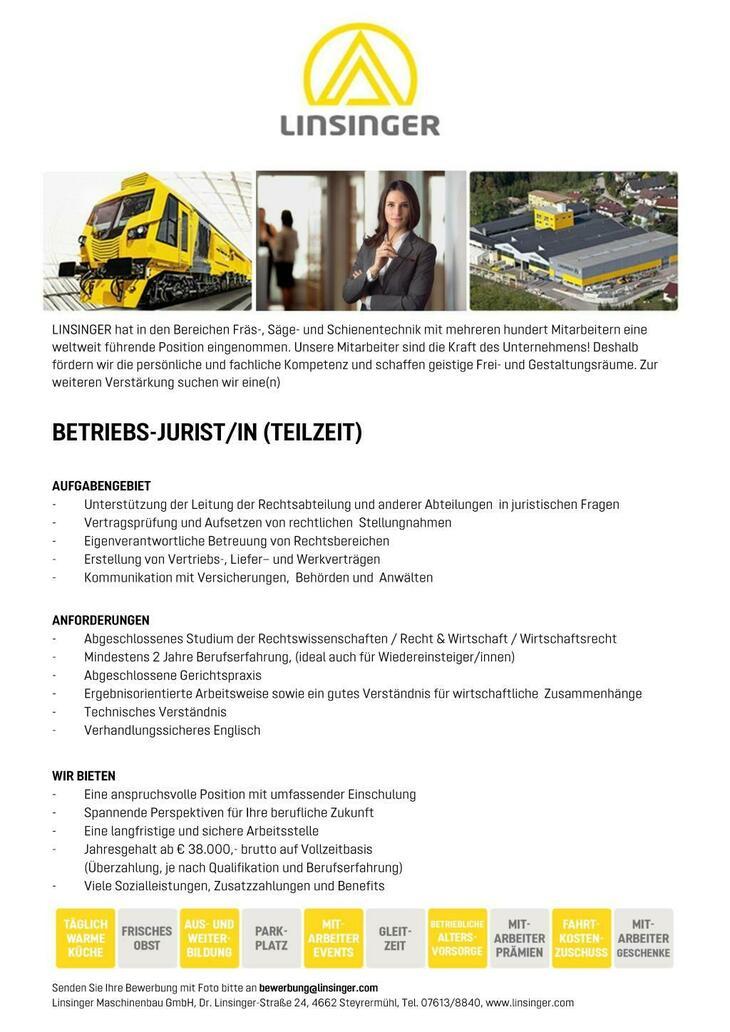 AUFGABENGEBIET - Unterstützung der Leitung der Rechtsabteilung und anderer Abteilungen in juristischen Fragen - Vertragsprüfung und Aufsetzen von rechtlichen Stellungnahmen - Eigenverantwortliche