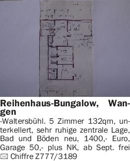 Vermietungen Häuser allgemein