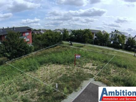 Schönes ebenes Grundstück zur Bebauung mit freistehendem Einzelhaus oder zwei Doppelhaushälften