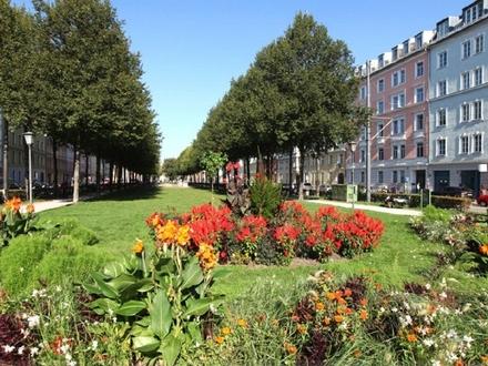 Sehr ruhige 2,5 Zi.-Garten-Whg. im Denkmalschutz-Altbau-Rückgebäude am Bordeauxplatz in Haidhausen