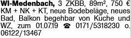 3-Zimmer Mietwohnung in Wiesbaden (65207)