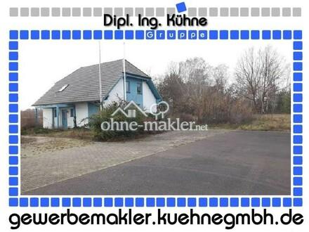 Prov.-frei: Rasante Lage! Kleines Gewerbegebäude im Wohnhausstil an der A2