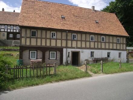 Denkmalgeschütztes Haus in der Oberlausitz