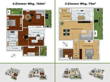 NUR TAUSCH! Biete zwei gepflegte Eigentumswohnungen (1x gut vermietet) gegen Haus mit Garten in HP