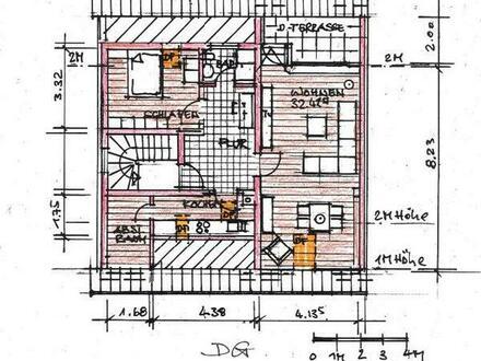 interresantes 2 Zimmerdachstudio,EB-Kü ab sofort, 575,-EURkalt,750,-EURwarm