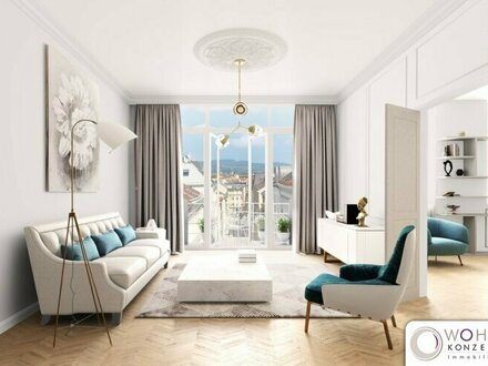 REPRÄSENTATIVES URBANES WOHNEN auf 86m² im KANDLHOF - einem generalsanierten Jahrhundertwendehaus in 1070 Wien