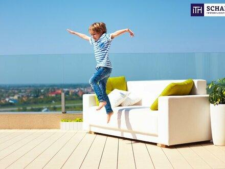 GUT INVESTIERT! Perfekte Raumplanung + 2 Zimmer Wohnung + ZWEI geniale Dachterrassen! Fertigstellung 12/2023